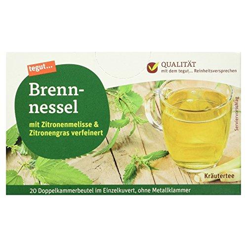 Tegut Brennnessel-Tee mit Zitronengras und Zitronenmelisse, 10er Pack (10 x 40 g)