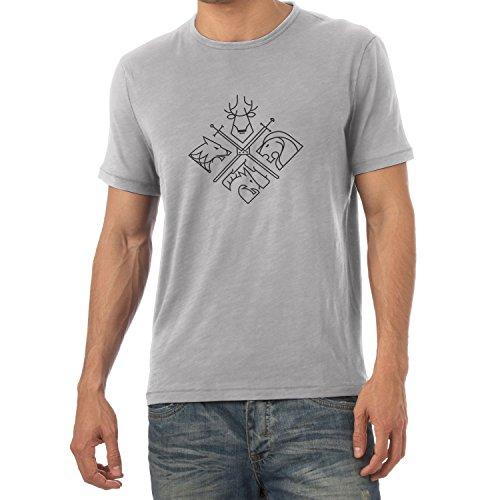 NERDO GoT Houses Logo Herren TShirt Grau Meliert 0e0486b22b