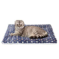WYSBAOSHU Ultra Soft Pet Blanket Colorful Dog Cat Mat (L, Dark Blue)