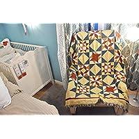 Aha yo Manta de sofá Estilo Indio Manto de algodón étnica de la tapicería del Diamante