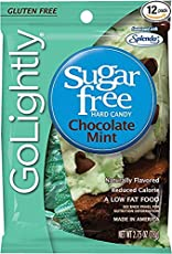Golightly Chocolate Mints Sweetened with Splenda Hard Candies 78 gm Free ChocoKick Eco Friendly Pen
