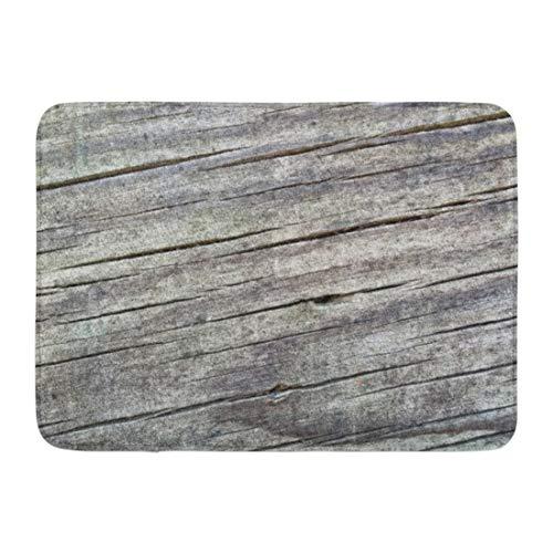 LIS HOME Bad Matte Vintage verwitterte Holzplanken Muster alte rustikale Holzmaserung im Alter von Badezimmer Dekor Teppich