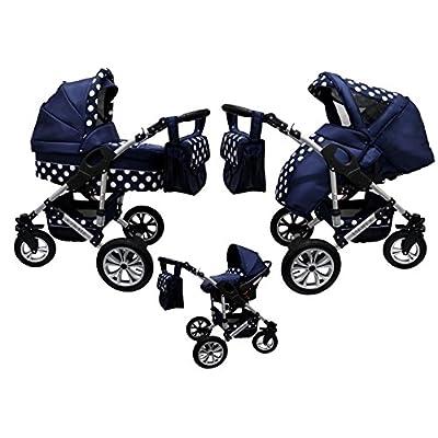 Cochecito bebe 3 piezas X-Trall BBtwin carro trio (azul marino)