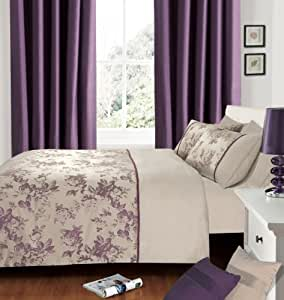 Intimates Housse de couette pour lit extra large Motif Jacquard Aubergine/prune/violet