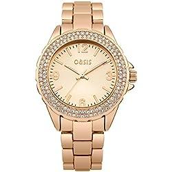 Oasis Damen-Armbanduhr Analog Quarz B1495