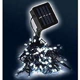 100er Solar LED Lichterkette Kaltweiß