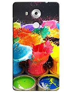 Omnam Paint Bucket With Paint In The Air Desinger Back Cover Case for Huawei Honor Mate 8