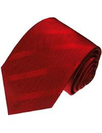 LORENZO CANA - Rot bordaux farbene hochwertige Marken Krawatte aus 100% Seide - 84315