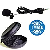 #8: Drumstone Mini Clip-on 3.5mm Plug Lavalier Or Personal Neck Microphone With Round Earphone Carrying Case - Multi Purpose Pocket Storage Travel Organizer for Headphone, Pen Drive,Memory Card Compatible With Xiaomi, Lenovo, Apple, Samsung, Sony, Oppo, Gionee, Vivo Smartphones (One Year Warranty)