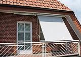 Beauty.Scouts Sonnenrollo 'Menor' Markise Sonenschutz Blickschutz Sichtschutz Sonnensegel 150 x 300 cm Garten 150 cm Breit weiß/grau