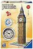 Ravensburger 125869- Big Ben mit echter Uhr, 216 Teile