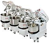 Beeketal 'BTK10' Profi Teigknetmaschine 10 Liter auf Rollen, mit Spiralkneter und rotierender...