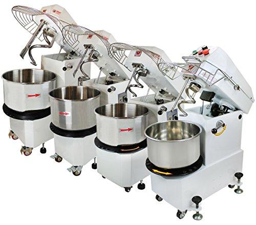 Beeketal \'BTK10\' Profi Teigknetmaschine 10l auf Rollen, mit Spiralkneter und rotierender Schüssel (Knethaken 156 U/min, Schüssel 18 U/min), 10l Gesamtvolumen für max. 4 kg Mehl
