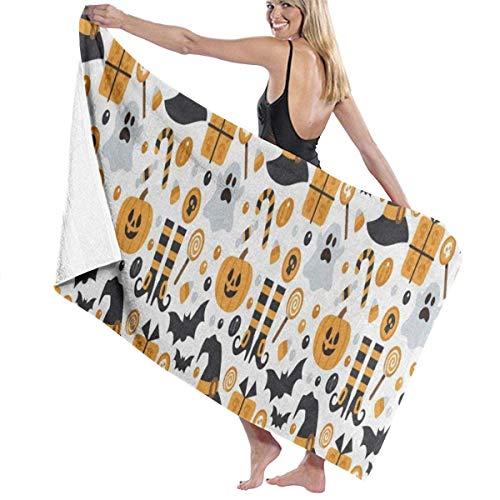 xcvgcxcvasda Serviette de bain, Happy Halloween Pumpkin Personalized Custom Women Men Quick Dry Lightweight Beach & Bath Blanket Great for Beach Trips, Pool, Swimming and Camping 31