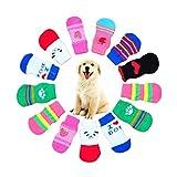 Haustier Kleidung Rosennie 4 Stücke Nette Welpen Hunde Pet Knits Socken Anti Slip Skid Bottom hundefutter hundespielzeug reisen mit hund haustier hund pflegeleichte haustiere (M, Zufällige Farbe)