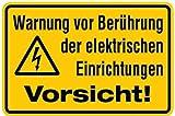 Aufkleber Warnung vor Berührung der elektrischen Einrichtungen Vorsicht! 200x300mm
