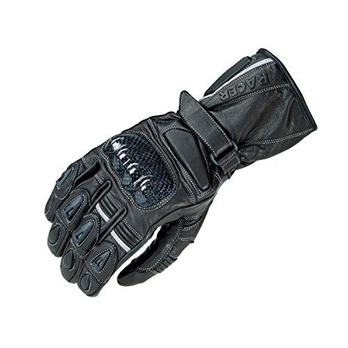 Racer PSG 1 Lederhandschuh, Flat-Schwarz, Größe XL