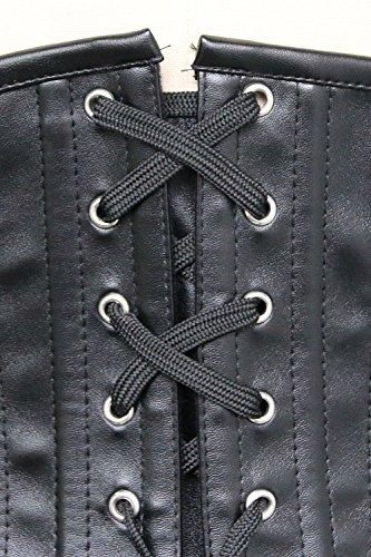 Charmian Women's Underbust Waist Training Steel Boned Goth Steampunk Corset Nero