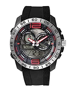 Q&Q Analog-Digital Black Dial Men's Watches - DE11J301Y