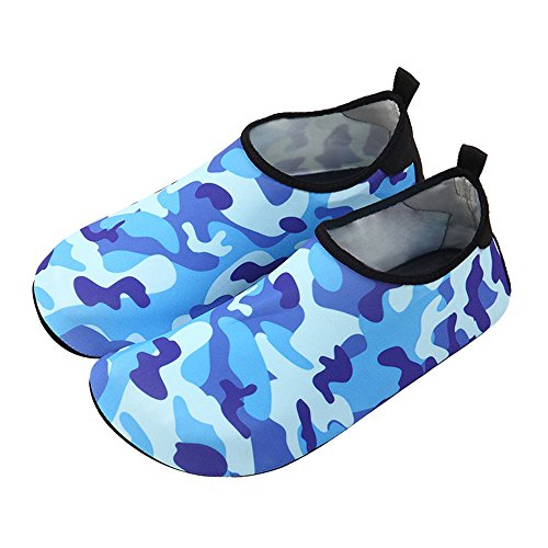 Nclon Unisex Wasserschuhe Aquaschuhe Schwimmschuhe Rutschfeste,Schnell Trocknend Aqua Badeschuhe Kinder Schwimmbad Yoga-G 36-37 EU (Für 35-36 EU)