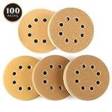 Disque de Ponçage 100pcs Tacklife Disques Abrasifs Velcro 60/80/120/150/220 Grain...