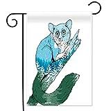 Violetpos Garten Flaggen Doppelseitiger Druck Home Dekoration Polyester Garden Flag Lustiger Koalabär, der auf Dem Baum Klettert 31x46cm