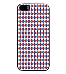 HiFi High Glossy Designer Phone Back Case Cover Apple iPhone 5S ( Red Blue Pattern Design )