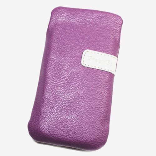 Schutzhülle Tasche Lederoptik violett L für ZTE Style Q