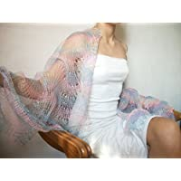 Scialle lavorato a maglia misto Cashmere