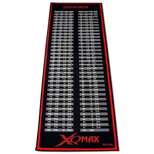 TW24 Turnier Dartmatte rot/schwarz 80 x 237 cm Dartteppich Dart Matte mit offiziellem Spielabstand