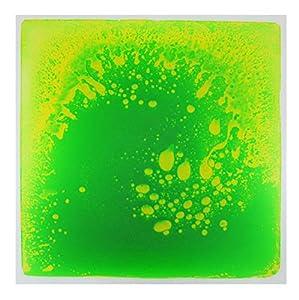 Kögler 23345 Liquid Floor - Felpudo (Aprox. 50 x 50 x 0,7 cm, Verde/Amarillo.