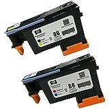 Caidi Cabezal de impresión 2x compatible para HP 88 Cabezal de impresión para HP Officejet Pro K550 K5400 K8600 L550 L580 L650 L7000 L7400 L7480 L7550 L7555 L7580