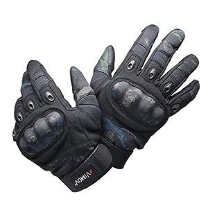 VIMOV Gants tactiques - gants extérieurs pour hommes dur pour Airsoft Paintball Camping Chasse Cyclisme Moto