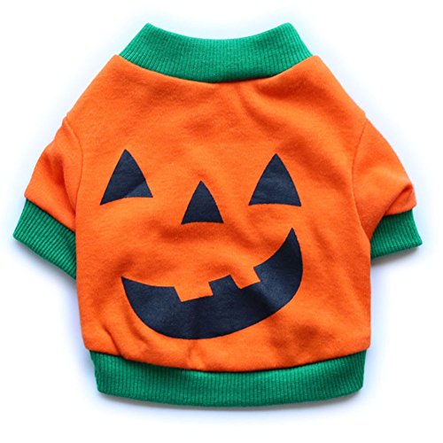 Moolecole Haustier-Welpen-Halloween-Partei-Kürbis-Kostüm-Hundekatze-T-Shirts (Hippie Da Kostüm)