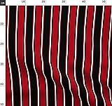 Schwarz, Rot, Weiß, Streifen, Linien, Gestreift Stoffe -