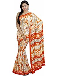 Classicate From The House Of The Chennai Silks Georgette Saree (Ccrisy38_Cream)