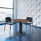 Weber Büro OPTIMA runder Besprechungstisch Ø 80 cm Nussbaum Anthrazites Gestell Tisch Esstisch