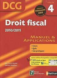 DROIT FISCAL - EPREUVE 4 DCG