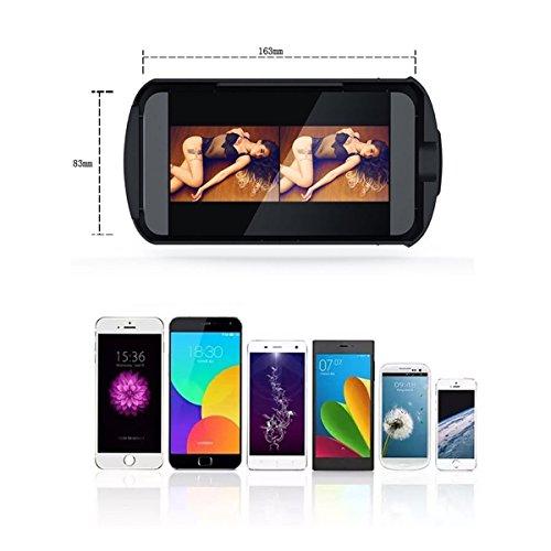 ouonline 3D VR Brille 3D VR Headset Virtual Reality Box mit verstellbare Linse und Strap für iPhone 6Plus/6S/6/5S/5C/5Samsung Galaxy S5/S6/S7/Note4/Note5und andere 10,2cm -6.0