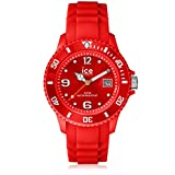 Ice-Watch - ICE forever Red - Rote Herrenuhr mit Silikonarmband - 000139 (Medium)