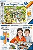 Ravensburger tiptoi® 2er Set Starter-Set: Stift & Buchstaben-Spiel + Puzzeln, Entdecken, Erleben: Im Zoo