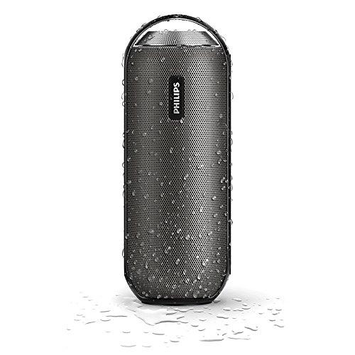 Philips BT6000B/37 Splash-Proof Wireless Portable Speaker (Gun Metal)