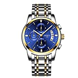Relojes Hombre Relojes de Pulsera de Lujo Marea Cronometro Impermeable Fecha Calendario Analogicos Cuarzo Relojes de Hombre Deportivo Casual Clásicos Multifunción