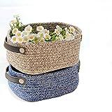 Filati di cotone tessitura e finitura cesto manicotto in pelle semplice scatola di deposito di corda di cotone