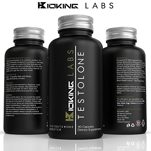Testosteron Booster Formular TESTOLONE - 1 Natürliche Testo Boosting Ergänzung Von Bioking Labs | Superstärke Testosterone Ergänzung, Tribulus, Maca, Feenagreek & Ginkgo Boloba
