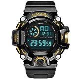 Blisfille Digitaluhr Herren Wasserdicht Wasserdicht Digitale Uhr Herrenuhr Schwarz Gold Outdoor Sportuhr Armbanduhr Automatikuhr