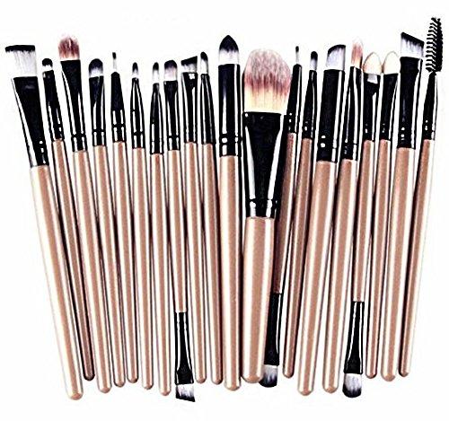 Hosaire - Set di 20 Pennelli per trucco professionale di occhi e labbra, per applicazione di ombretti, eyeliner, fondotinta, ecc
