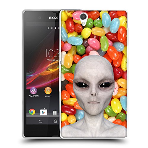 Grand Phone Cases TPU Gel Funda Carcasa Tapa Case Cover para // Q05510654 Alienígena Caramelo de Color // Sony Xperia Z L36H C6603