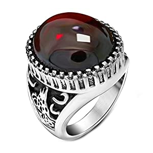 Anyeda Herren Edelstahl Ring Tierring Wedding Ring Men