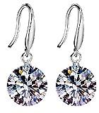 E-Darter Jewelry 925 Silver-plated Swarovski Crystal Elements Drop Earings for Women